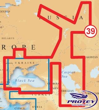 """Карта NAVIONICS GOLD """"Крупнейшие водоемы Украины и России (код 39XG)"""" для Lowrance и Eagle"""